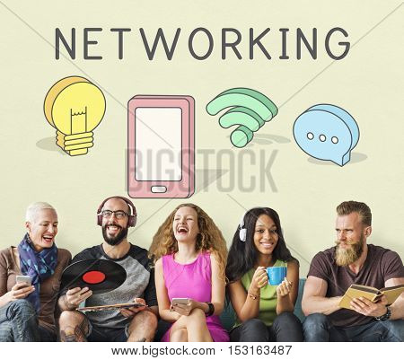 Internet Networking Connection Communication Icon Concept