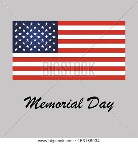 Memorial day. American flag vector. Vector illustration