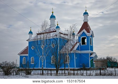An old wooden Church in Russia, Kursk Region