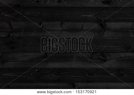 Dark black wood background or texture of plank