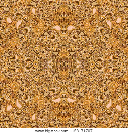 Seamless lined pattern. Repeating floral tracery. Can be used as pattern for surfaces, website background etc.