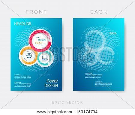 Creative blue modern brochure design template vector background