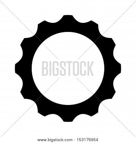 gears settings flat icon vector illustration design