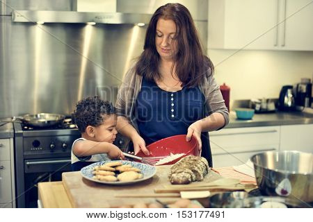 Family Bakery Homemade Relaxation Leisure Concept
