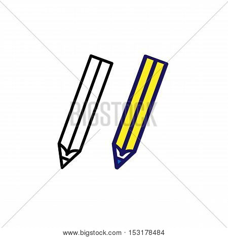 Pencils icon. Drawing tool sign Silhouette flat design vector illustration