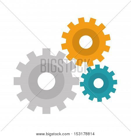 gear setup machinery icon vector illustration design