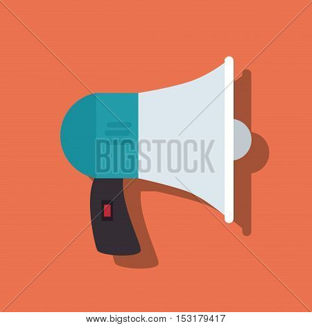 megaphone anouncement isolated icon vector illustration design