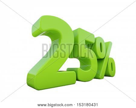 3d Render: Isolated on White Percent Discount 3d Sign on White Background, Special Offer