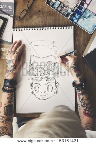 Tattoo Woman Creative Ideas Design Inspiration Concept