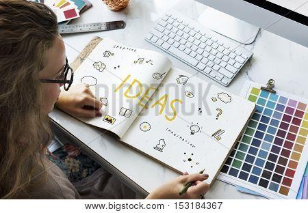 ideas Strategy Action Design Vision Plan Concept