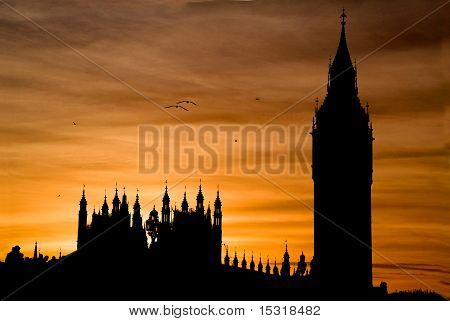 Sunset over Big Ben