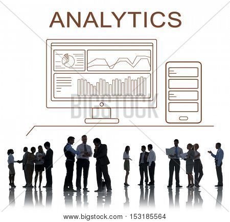 Analytics Progress Summary Computer Concept