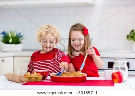 Kids Baking Apple Pie