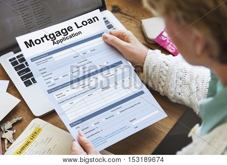 Mortgage Loan Finance Information Concept