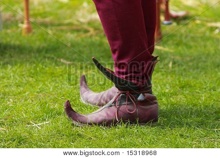 Medieval European Long Toed Shoes