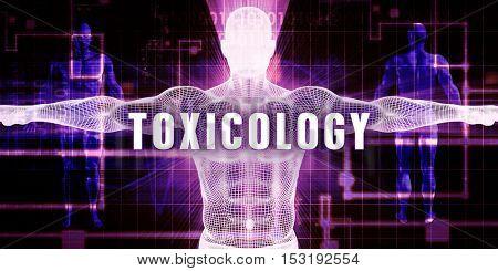 Toxicology as a Digital Technology Medical Concept Art 3D Illustration Render