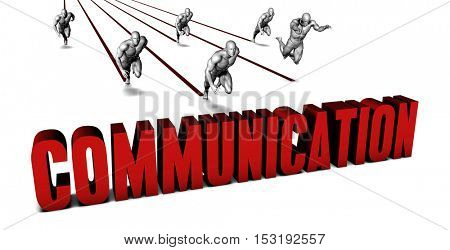 Better Communication with a Business Team Racing Concept 3D Illustration Render