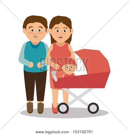 group family members characters vector illustration design