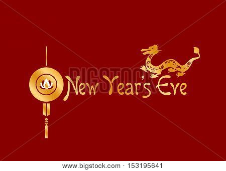 illustration on the theme of the holiday - the new year.