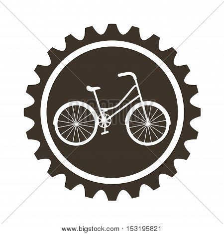 bicycle vehicle style with gear isolated icon vector illustration design