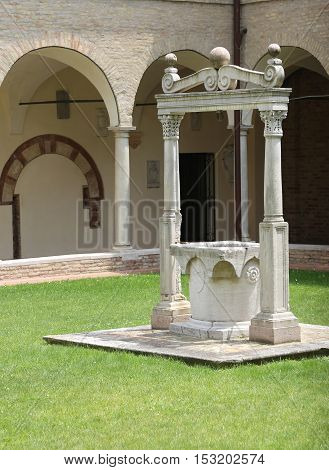 Well To Collect Rainwater In The Cloister Of An Ancient Monaster