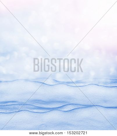 Background. Winter landscape. The texture of the snow