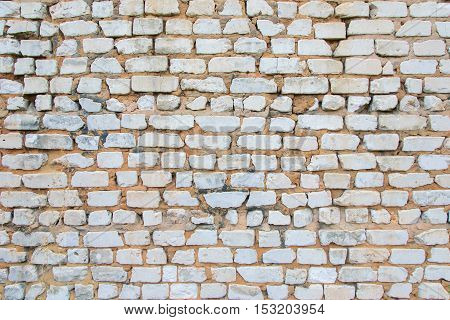 background of the old brick wall. Brickwork