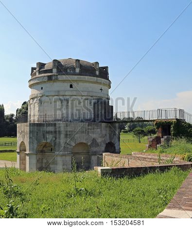 Mausoleum Of Theodoric In The City Of Ravenna In Central Italy