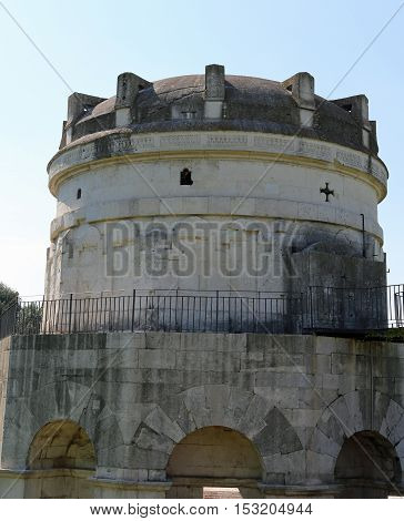 Dome Of Mausoleum Of Theodoric In The City Of Ravenna In Italy