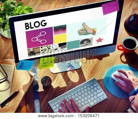 Blog Content Internet Post Site Social Story Web Concept