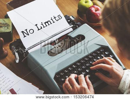 No Limits Freedom Inspire Motivation Concept