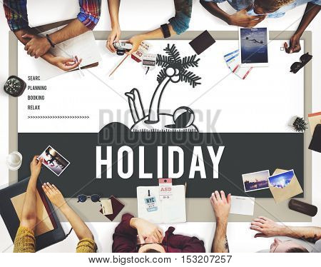 Holiday Vacation Island Graphic