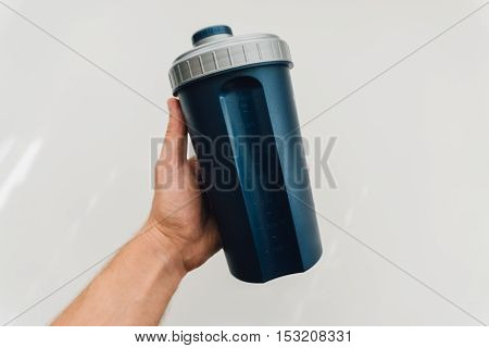 Healthy Lifestyle And Sports Nutrition, Protein Shake. A Serving Of Protein After A Workout