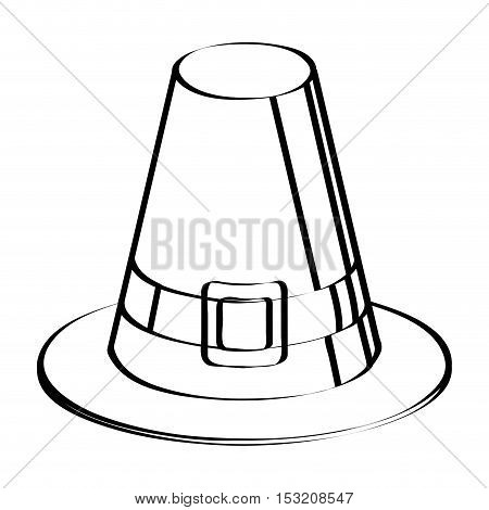 Isolated sketch of a hat Thanksgiving day vector illustration