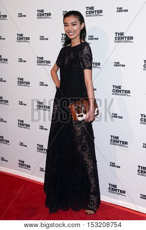 NEW YORK-APR 2: Model Sissi Hou attends the 2015 Center Dinner at Cipriani Wall Street on April 2, 2015 in New York City.