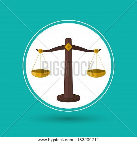 Balance icon. Law justice legal and judgment theme. Colorful design. Vector illustration