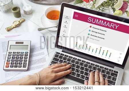 Summary Online Banking Internet Concept