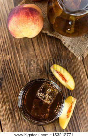Fresh Made Peach Ice Tea (selective Focus)