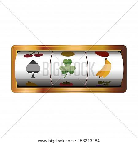 casino game machine over white background. vector illustration