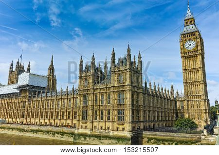 Amazing view of  Big Ben, London, England, United Kingdom