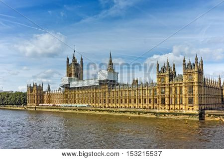 Amazing view of Houses of Parliament, Palace of Westminster,  London, England, Great Britain