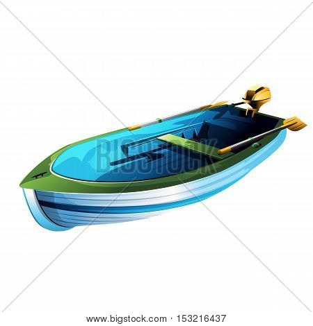 Rowing boat illustration on a white background