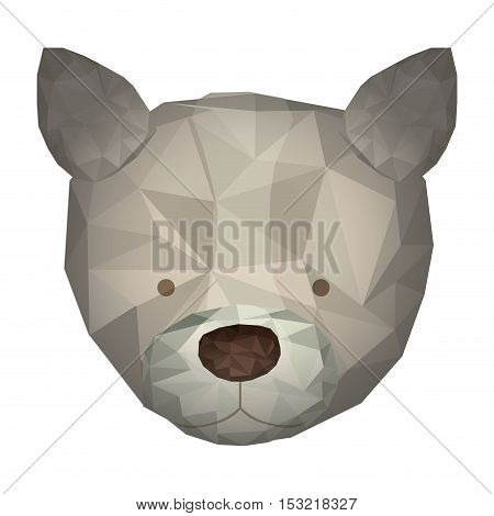 dog animal with abstract design over white background. vector illustration