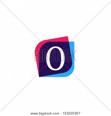 O letter zero sign company symbol vector design