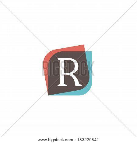 R letter sign retro company symbol vector design