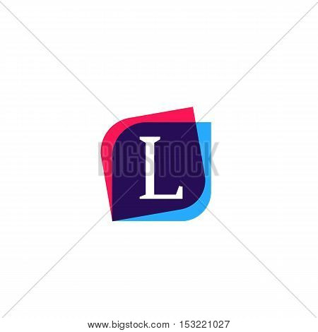 L letter sign company symbol vector design