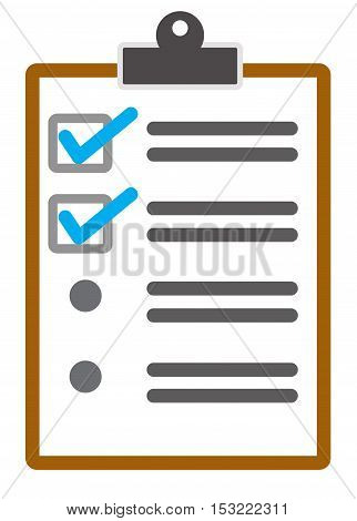 checklist page vector icon. style is flat