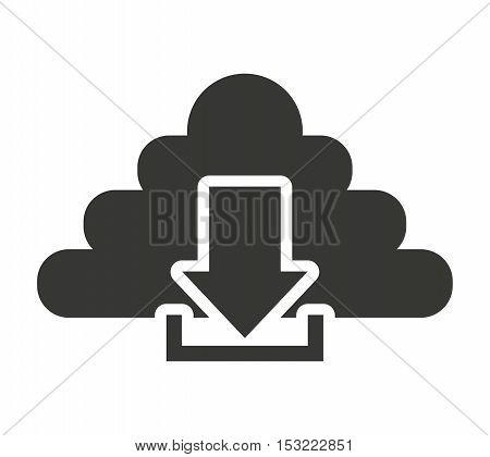 cloud computing with arrow download vector illustration design