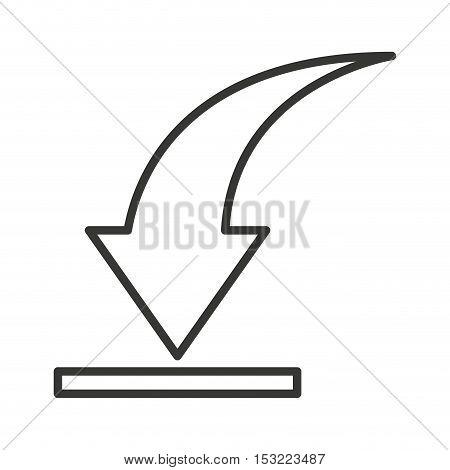 arrow download symbol isolated icon vector illustration design