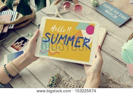 Summer Season Fun Rest Concept